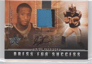 2007 Leaf Rookies & Stars Dress for Success Materials Jerseys Prime Signatures [Autographed] #DS-5 - Dwayne Jarrett /5