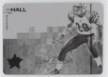 2007 Leaf Rookies & Stars Printing Plate Black #228 - Leon Hall /1
