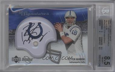 2007 NFL Sweet Spot - Signatures Tier 2 - Silver 49 #SSS-PM2 - Peyton Manning /49 [BGS 8.5]