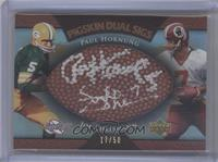 Paul Hornung, Joe Theismann /50