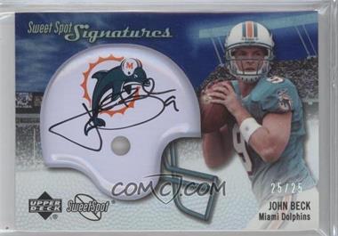 2007 NFL Sweet Spot Signatures Tier 2 Silver 25 #SSS-JB2 - John Beck /25