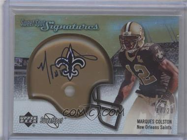 2007 NFL Sweet Spot Signatures Tier 3 Gold 20 #SSS-MC - Marques Colston /20