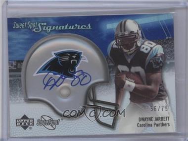 2007 NFL Sweet Spot Signatures Tier 3 Silver 75 #SSS-DJ - Dwayne Jarrett /75