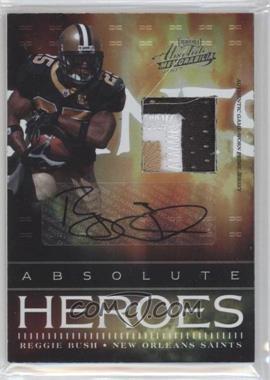 2007 Playoff Absolute Memorabilia Absolute Heroes Materials Prime Signatures [Autographed] [Memorabilia] #AH-24 - Reggie Bush /25