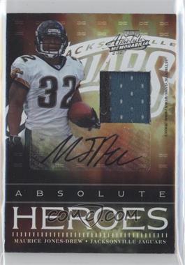 2007 Playoff Absolute Memorabilia Absolute Heroes Materials Prime Signatures [Autographed] [Memorabilia] #AH-3 - Maurice Jones-Drew /25