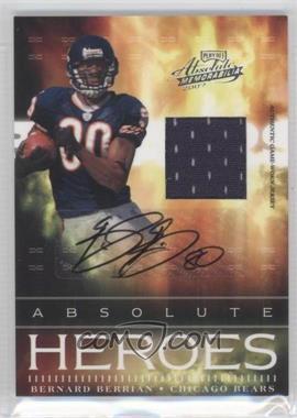 2007 Playoff Absolute Memorabilia Absolute Heroes Materials Signatures [Autographed] [Memorabilia] #AH-9 - Bernard Berrian /50