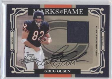 2007 Playoff Absolute Memorabilia Marks of Fame Materials Signatures [Autographed] [Memorabilia] #MOF-35 - Greg Olsen /50