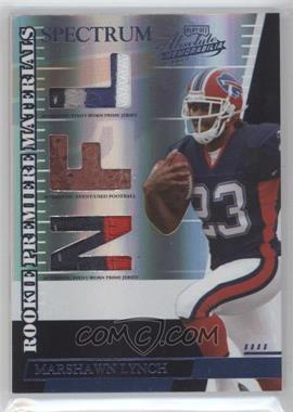 2007 Playoff Absolute Memorabilia Rookie Premiere Materials Spectrum Die-Cut NFL Prime [Memorabilia] #259 - Marshawn Lynch /100