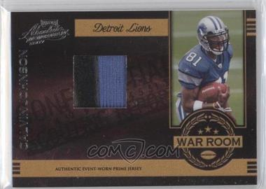 2007 Playoff Absolute Memorabilia War Room Materials Prime [Memorabilia] #WR-28 - Calvin Johnson /50