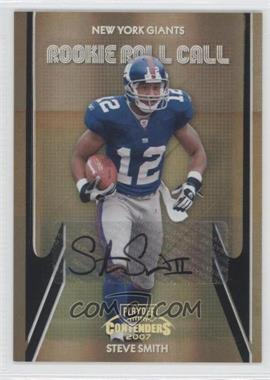 2007 Playoff Contenders - Rookie Roll Call - Black Autographs [Autographed] #RRC-14 - Steve Smith /25