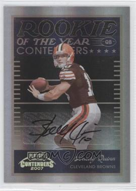 2007 Playoff Contenders - Rookie of the Year Contenders - Black Autographs [Autographed] #ROY-5 - Brady Quinn /50