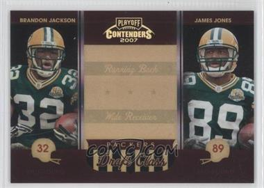 2007 Playoff Contenders Draft Class Black #DC-13 - Brandon Jackson, James Jones /100