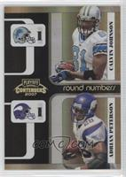 Adrian Peterson, Calvin Johnson /100