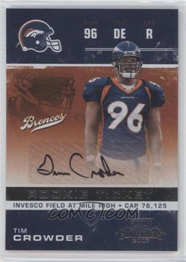 2007 Playoff Contenders #229 - Tim Crowder