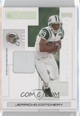 2007 Playoff NFL Playoffs - [Base] - Silver Materials Prime [Memorabilia] #68 - Jerricho Cotchery /15