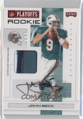 2007 Playoff NFL Playoffs Red Materials Prime Signatures [Autographed] [Memorabilia] #118 - John Beck /50