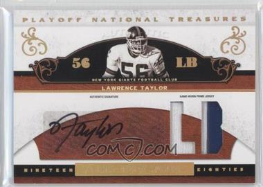 2007 Playoff National Treasures - [???] #AD-LT - Lawrence Taylor /25