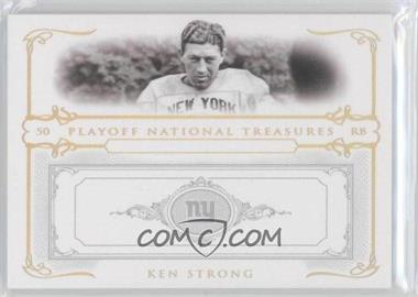 2007 Playoff National Treasures - [Base] - Gold #59 - Ken Strong /5