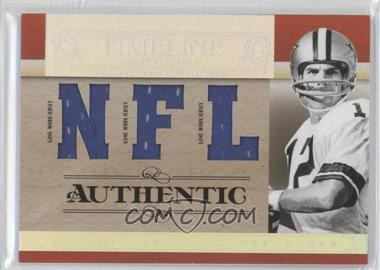 2007 Playoff National Treasures - Timeline - NFL Jersey #T-RS - Roger Staubach /99