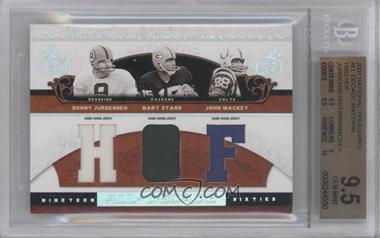 2007 Playoff National Treasures [???] #AD-07 - Sonny Jurgensen, Bart Starr /25 [BGS 9.5]