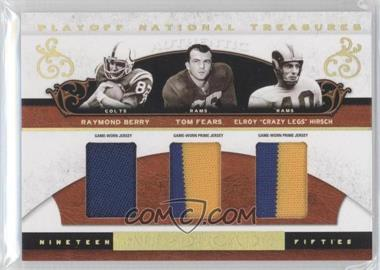 2007 Playoff National Treasures [???] #AD-RBTFEH - Elroy Hirsch, Raymond Berry /25