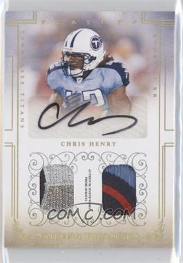 2007 Playoff National Treasures Gold Combo Material Autograph #108 - Chris Henry /10