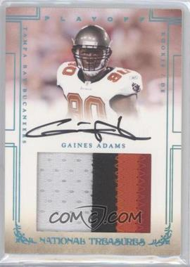 2007 Playoff National Treasures Rookie Signature Jumbo Material Platinum #112 - Gaines Adams /5