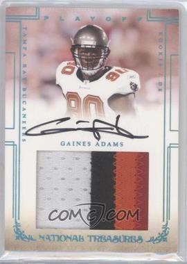 2007 Playoff National Treasures Rookie Signature Materials Jumbo Platinum [Autographed] [Memorabilia] #112 - Gaines Adams /5