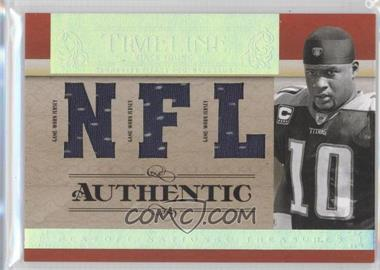2007 Playoff National Treasures Timeline NFL Jersey #T-VY - Vince Young /99