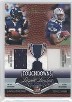Terrell Owens, LaDainian Tomlinson, Larry Johnson, Marvin Harrison /50