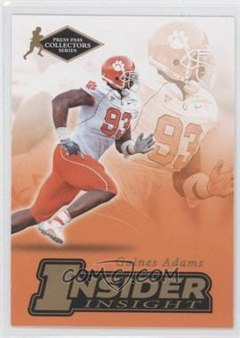 2007 Press Pass Collectors Series [???] #II-1 - Gaines Adams