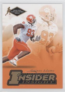2007 Press Pass Collectors Series [???] #II-1 - Gaines Adams