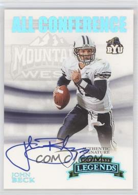 2007 Press Pass Legends All Conference Autographs Platinum #AC-JB - John Beck /25