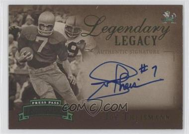 2007 Press Pass Legends Legendary Legacy Gold Autographs [Autographed] #LL-JT - Joe Theismann