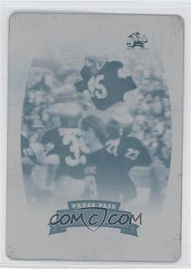 2007 Press Pass Legends Press Plate Cyan #89 - Rudy Ruettiger /1