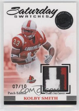2007 Press Pass Legends Saturday Swatches Patch Edition #SS-KS - Kolby Smith /10