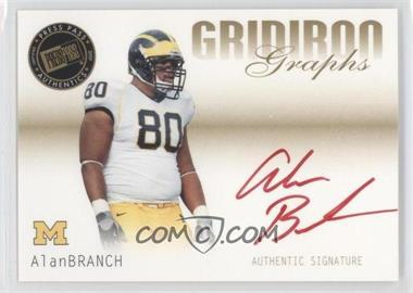 2007 Press Pass SE Gridiron Graphs Gold Red Ink #GG-AB - Alan Branch