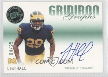 2007 Press Pass SE Gridiron Graphs Green #GG-LH - Leon Hall /25