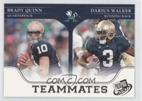 Brady Quinn, Darius Walker