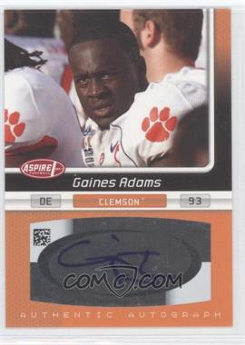 2007 SAGE Aspire - Autographs #28A - Gaines Adams