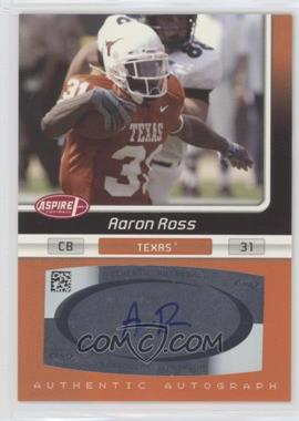 2007 SAGE Aspire - Autographs #33A - Aaron Ross
