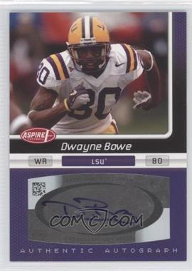 2007 SAGE Aspire Autographs #20A - Dwayne Bowe