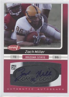 2007 SAGE Aspire Autographs #26A - Zach Miller