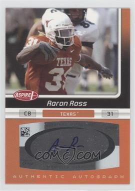 2007 SAGE Aspire Autographs #33A - Aaron Ross