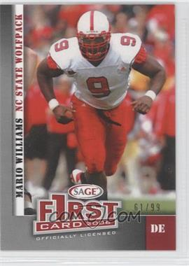 2007 SAGE Autographed Football [???] #07-06 - Mario Williams /99