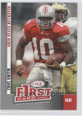 2007 SAGE Autographed Football [???] #07-TS - Troy Smith /99