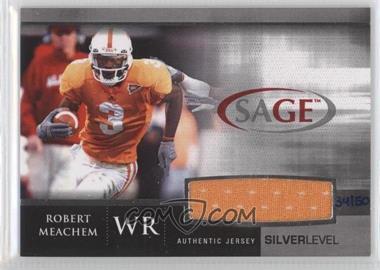 2007 SAGE Autographed Football [???] #7 - Robert Meachem