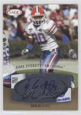 2007 SAGE Autographed Football [???] #A16 - Earl Everett /200