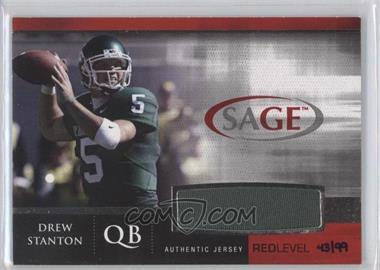 2007 SAGE Autographed Football [???] #J-16 - Drew Stanton /99