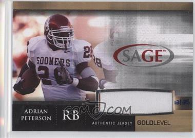 2007 SAGE Autographed Football [???] #J10 - Adrian Peterson /25